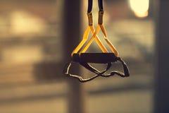 Sprawności fizycznej zawieszenia patki dla trenować w gym Obrazy Royalty Free