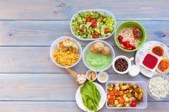 Sprawności fizycznej zdrowy jedzenie fotografia stock