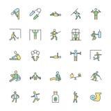 Sprawności fizycznych Śmiałe Wektorowe ikony 4 Obraz Royalty Free