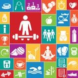 Sprawności fizycznych ikony ustawiać (kolor) Obraz Royalty Free