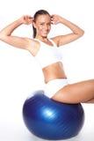 sprawności fizycznej balowa kobieta Zdjęcie Stock