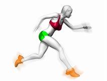 sprawności fizycznej bieg kobieta Zdjęcie Royalty Free