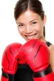 sprawności fizycznej bokserska kobieta Zdjęcie Stock