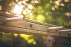 Sprawności fizycznej drabina w parku fotografia royalty free