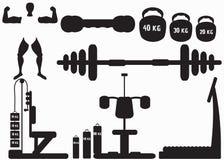 Sprawności fizycznej gym ikony Obraz Royalty Free