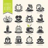 Sprawności fizycznej i wellness ikony set Zdjęcia Stock