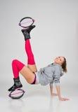 sprawności fizycznej instruktora odosobniony biel Zdjęcie Royalty Free
