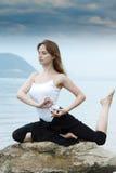 sprawności fizycznej joga Zdjęcia Stock