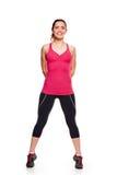 Sprawności fizycznej kobiety aerobika portret Fotografia Stock