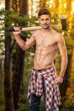 Sprawności fizycznej lumberjack Zdjęcia Stock