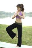 sprawności fizycznej medytaci serie Zdjęcia Royalty Free