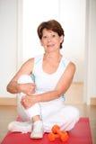 sprawności fizycznej seniora kobieta fotografia royalty free