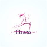Sprawności fizycznej ans sporta dziewczyn ikony Obraz Royalty Free