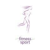 Sprawności fizycznej i sporta dziewczyny sylwetka Obraz Royalty Free