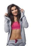 Sprawności fizycznej kobieta jest ubranym sport bluzkę Obrazy Royalty Free
