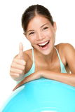 Sprawności fizycznej kobiety pilates Fotografia Royalty Free