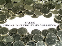 sprawozdanie finansowe zdjęcie stock