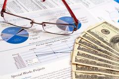sprawozdanie finansowe Obraz Stock