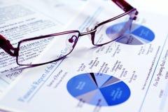 sprawozdanie finansowe Zdjęcia Stock
