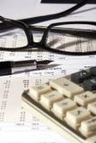 sprawozdanie finansowe obrazy stock