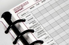 sprawozdanie kosztów Obraz Stock