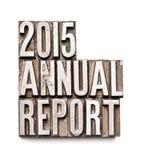 2015 sprawozdanie roczne Zdjęcia Royalty Free