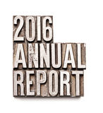 2016 sprawozdanie roczne Obrazy Royalty Free