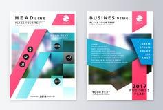Sprawozdanie roczne broszurka Plan biznesowy ulotki projekta szablon Fotografia Stock