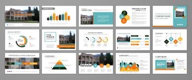 Sprawozdanie roczne broszurki set ilustracji