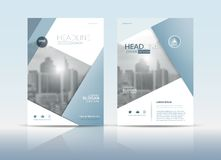 Sprawozdanie roczne broszurki ulotki projekta okładkowy szablon royalty ilustracja