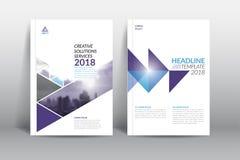 Sprawozdanie roczne broszurki ulotki projekta okładkowy szablon ilustracja wektor