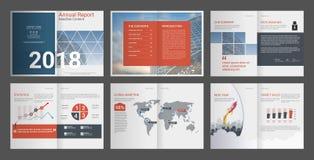 Sprawozdanie Roczne, firma profil, Agencyjna broszurka, Wielocelowy prezentacja szablon ilustracja wektor