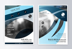 Sprawozdanie roczne i broszurka Broszurka szablonu raporty Fotografia Stock