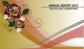 Sprawozdanie roczne pokrywa Fotografia Royalty Free