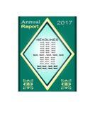 Sprawozdanie Roczne projekt, broszurki zieleni projekt Ulotka Czerwony Plakatowy projekt układ raport sztandaru szablon Obraz Stock
