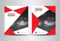 Sprawozdanie roczne szablonu wektoru ilustracja Obrazy Royalty Free