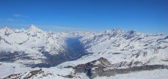 Sprawy dolina, Szwajcaria Fotografia Stock