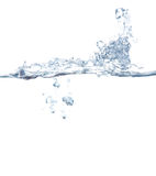 Spray. Splashes of water in aquarium Royalty Free Stock Images