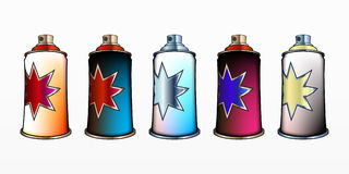 Spray aerosol set Royalty Free Stock Photography