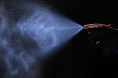 Spray from the atomizer Stock Image