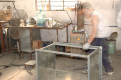 Spray booths factory in China Stock Photos