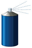 Spray bottle in blue color Royalty Free Stock Photography