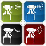 Spray Bottle Icons Royalty Free Stock Image