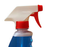 Spray bottle on white Royalty Free Stock Photo