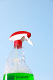 Spray bottle  for windows cleaning Royalty Free Stock Image