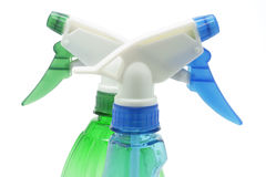 Spray Bottles. Drop out on white background royalty free stock photos