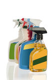 Spray bottles Stock Image