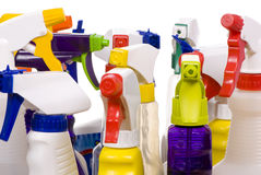 Spray bottles Stock Photography