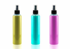 Spray bottles sets isolated on white background, use clipping pa Royalty Free Stock Photo