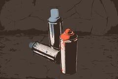 Spray can. Aerosol graffiti paint spray. Stree art concept. Graffiti spray paint. Vector Illustration. Eps 10 Royalty Free Stock Photo